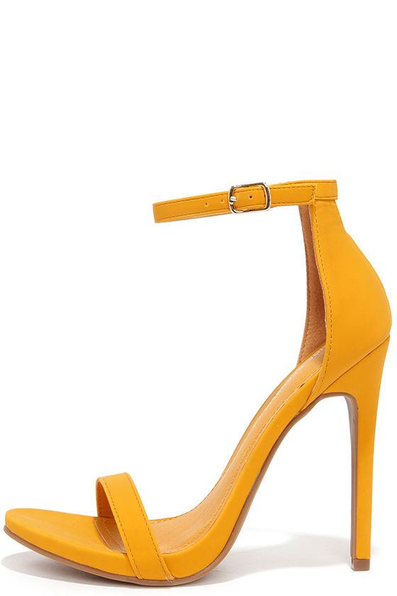 Cute Yellow Heels - Ankle Strap Heels - High Heel Sandals - $34.